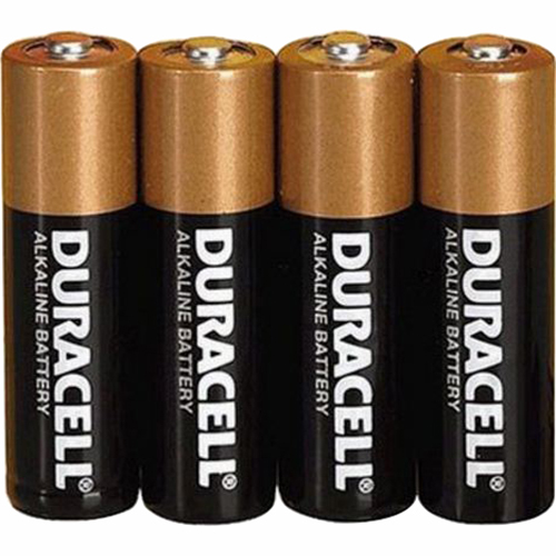 Duracell 4 Pack AA Alkaline Batteries Retail Package