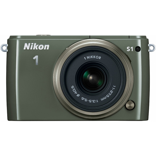 Nikon 1 S1 10MP HD Digital SLR Camera with 18-50mm Lens - Khaki - Factory Refurbished
