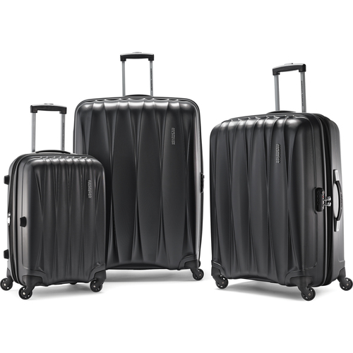 American Tourister Arona Premium Hardside Spinner 3Pcs Luggage Set 20` 25` 29` (Charcoal)