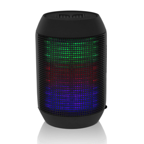 BlackHat Tech Compact Bluetooth Speaker with Surround Colorful LED Lighting