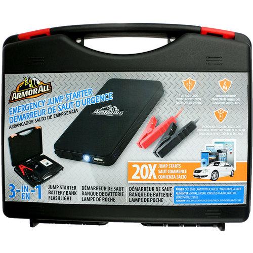Armor All AJS8-1001-BLK Jump Starter Kit and Power Bank (6000 mAh) (Black)