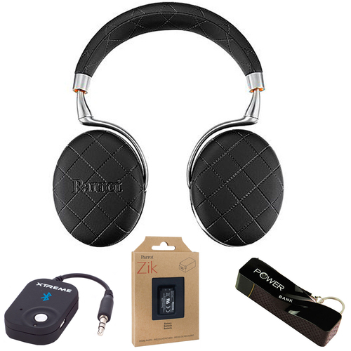 Parrot Zik 3 Wireless Noise Cancelling Bluetooth Headphones over-stiched Mobile Bundle