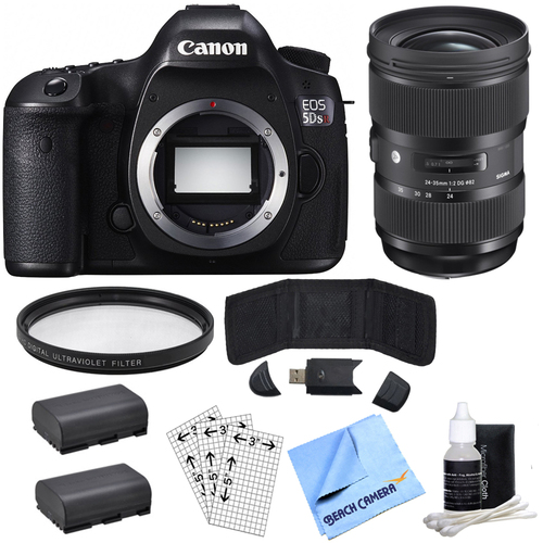 Canon EOS 5DS R 50.6MP Digital SLR Camera (Body Only)& Sigma 24-35mm Lens Power Bundle