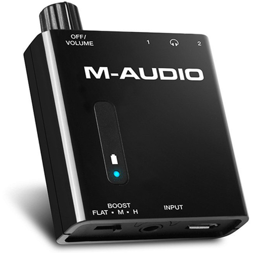 M-Audio Bass Traveler Portable Headphone Amplifier with Dual Outputs & 2-Level Boost
