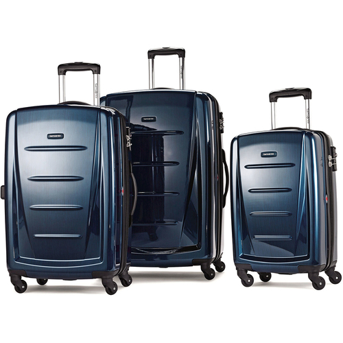 Samsonite Winfield 2 Fashion Hardside 3 Piece Spinner Set - Deep Blue (56847-1277)