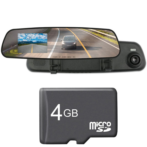 ArmorAll 2.4 inch LCD Dash Cam w/ 720p Video/Audio Recorder + 4GB Card Bundle