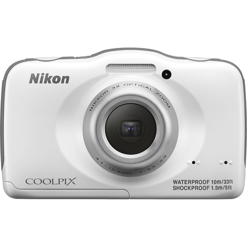 Nikon COOLPIX S32 13.2MP Waterproof Shock-Dustproof Camera WHT (Certified Refurbished)