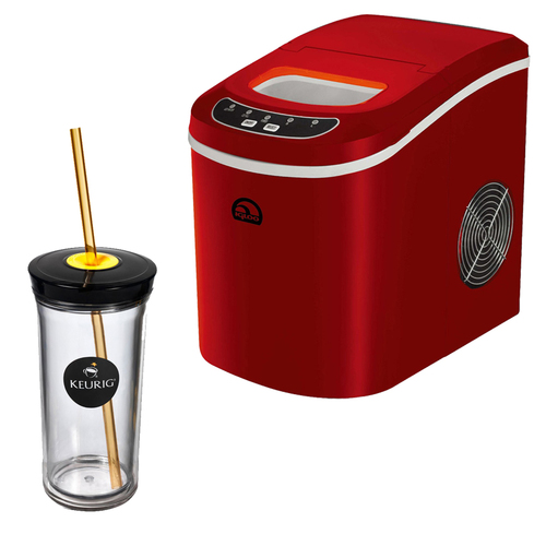 Igloo Compact Ice Maker (Red) w/ Keurig Iced Beverage Tumbler