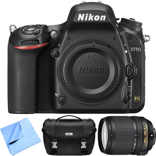 Nikon D750 Digital SLR Camera Body w/ NIKKOR 18-140mm Lens - Refurbished Bundle