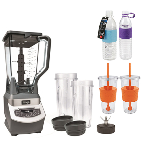 Ninja BL660 Ninja Professional Style Blender w/ Single Serve w/ Copco Bottles Bundle