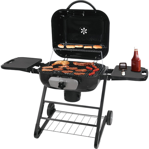 Blue Rhino CBC1255SP Deluxe Outdoor Charcoal Barbeque Grill w/ 480 sq. in. surface (Black)