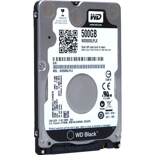 WD 500GB WD Black Mobile OEM Hard Drive (WD5000LPLX)