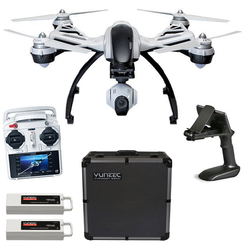 Yuneec Q500+ Typhoon Quadcopter Drone + 3-Axis Gimbal Camera, Steady Grip, Deluxe Case
