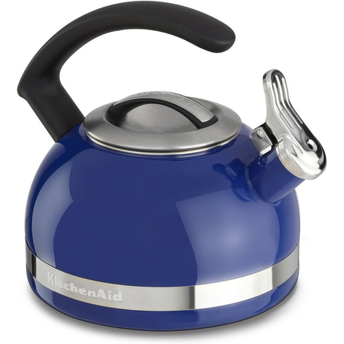 KitchenAid 2.0-Quart Kettle with C Handle and Trim Band in Doulton Blue - KTEN20CBDB