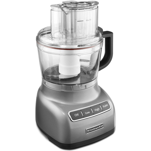 KitchenAid 9-Cup Food Processor with Exact Slice System in Contour in Silver