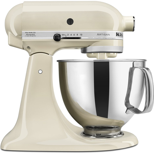 KitchenAid Artisan Series 5-Quart Tilt-Head Stand Mixer in Almond Cream - KSM150PSAC