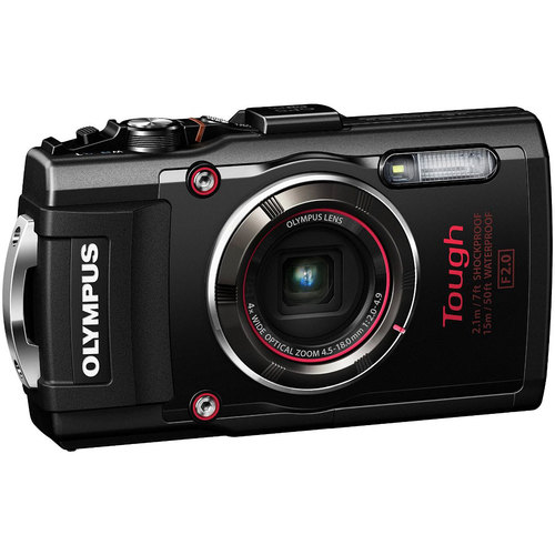 Olympus TG-4 16MP 1080p HD Waterproof Digital Camera w/ 3-Inch LCD (Black) - Refurbished