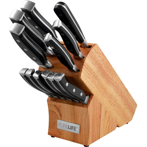 Ragalta 13-Piece Forged High Carbon Stainless Steel Cutlery in Wooden Block - PLKS-2500