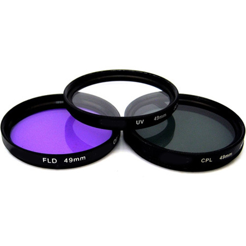 49mm UV, Polarizer & FLD Deluxe Filter Kit (Set of 3 + Carrying Case) FK3-49