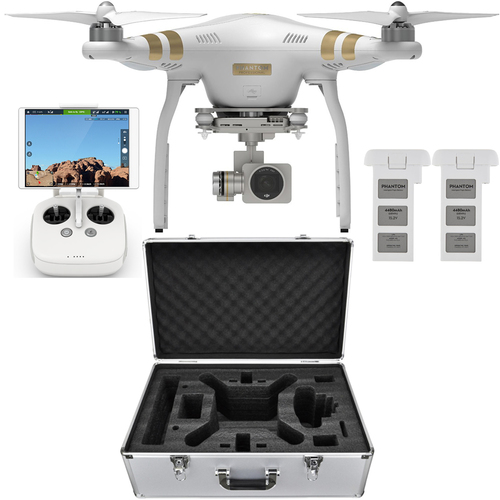 DJI Phantom 3 Professional Drone with 4K Camera Bundle with Extra Battery and Case