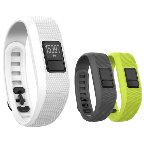 Garmin vivofit 3 Activity Tracker - Regular Fit - White with 3 Accessory Bands