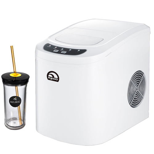 Igloo Compact Ice Maker White with Keurig Iced Beverage Tumbler