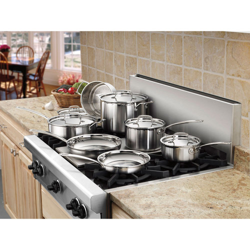 Cuisinart Multiclad Pro Tri-Ply 12 pc. Stainless Cookware Set (MCP-12N) - Refurbished