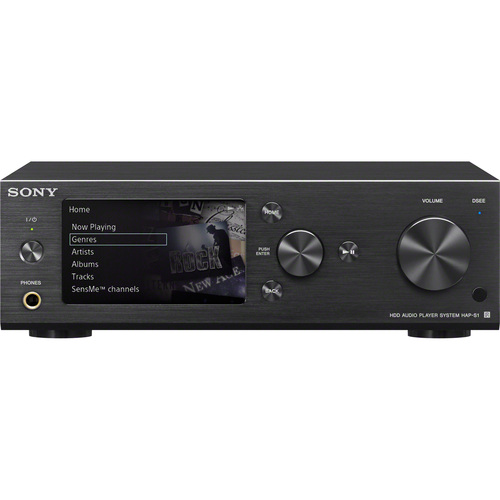 Sony HAP-S1/B 500GB HDD Hi-Resolution Black Music Player System