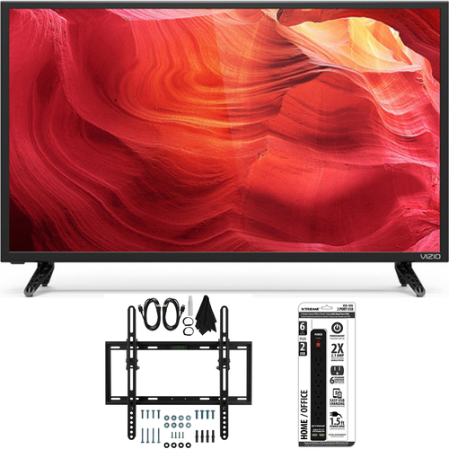 Vizio E43-D2 - 43-Inch 120Hz Full-Array SmartCast LED HDTV Flat/Tilt Wall Mount Bundle