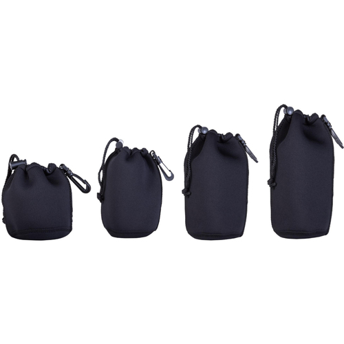 Neoprene Lens Pouch 4-Pack includes 4.5