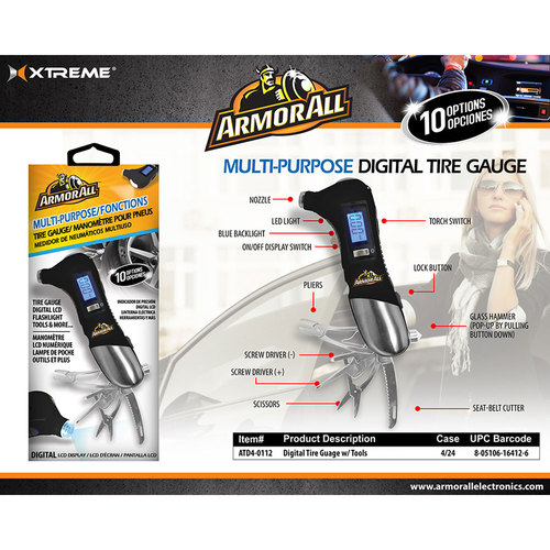 Digital Tire Gauge With Tools