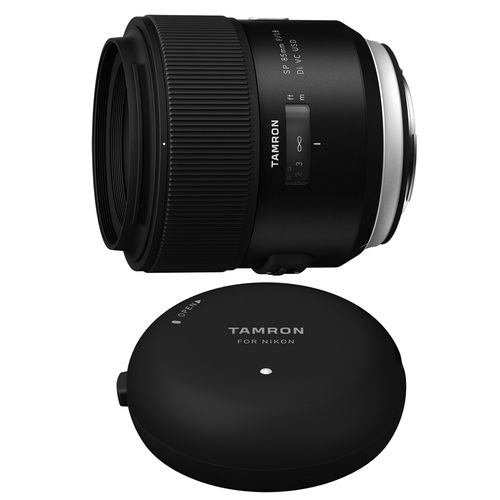 Tamron SP 85mm f1.8 Di VC USD Lens and TAP-In-Console for Sony Mount Cameras