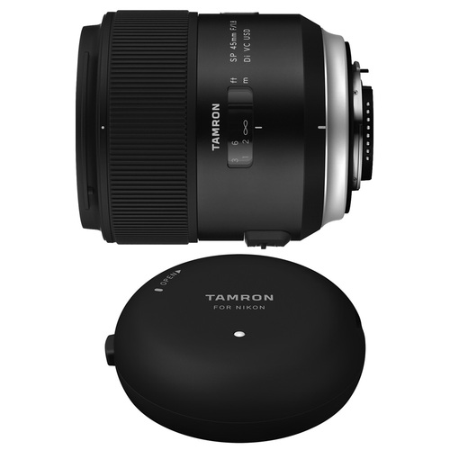 Tamron SP 45mm f/1.8 Di VC USD Lens and TAP-In-Console for Nikon Mount Cameras