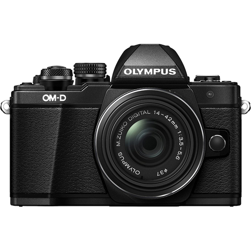 Olympus OM-D E-M10 Mark II Mirrorless Digital Camera with 14-42 IIR Lens (Black)