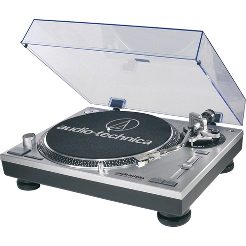 Audio-Technica AT-LP120-USB Direct-Drive Professional Turntable - Factory Refurbished - Silver