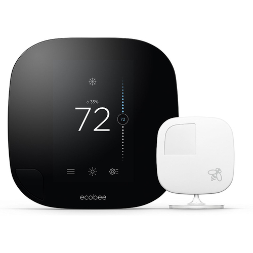 Ecobee Smarter Wi-Fi Thermostat with Remote Sensor - 2nd Generation - OPEN BOX