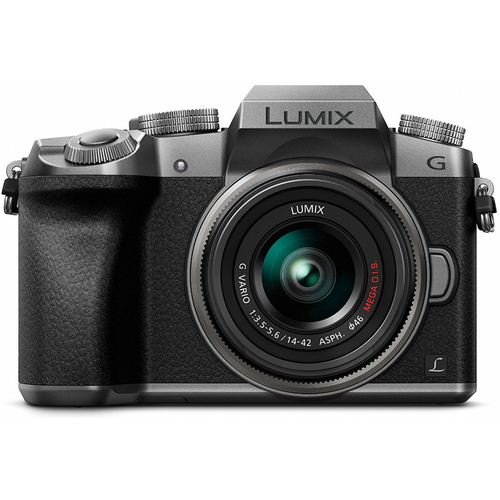 Panasonic LUMIX G7 Interchangeable Lens 4K Ultra HD Silver DSLM w/ 14-42mm Lens - OPEN BOX
