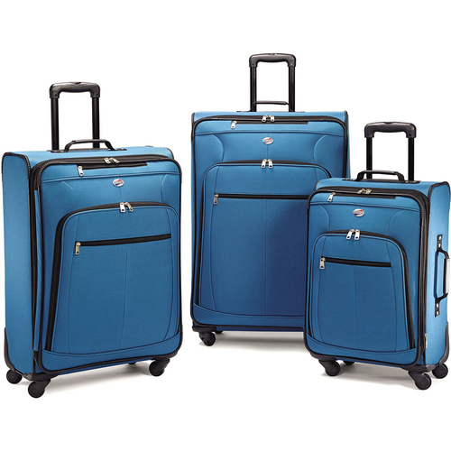 American Tourister Pop Plus 3 Piece Luggage Set (Moroccan Blue) - 64590-2551 - OPEN BOX