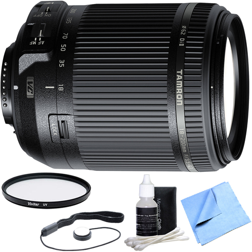 Tamron 18-200mm Di II VC All-In-One Zoom Lens for Nikon Mount w/ UV Filter Bundle