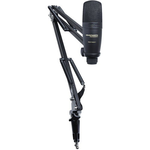 Professional Pod Pack 1 USB Microphone with Broadcast Stand & Cable