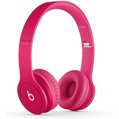 Beats By Dre Solo HD On-Ear Headphones with Built-in Mic (Matte Pink)