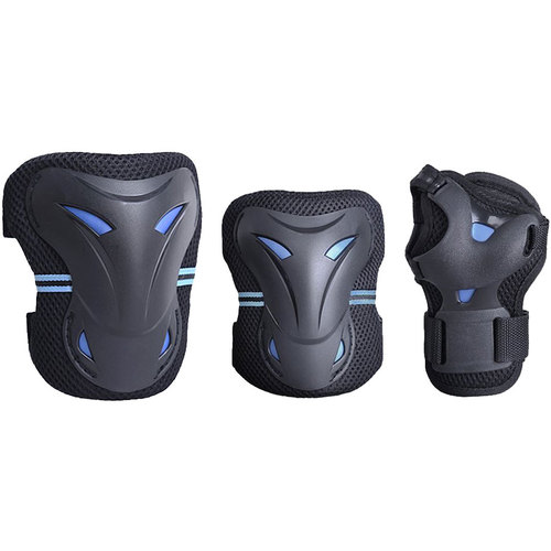 Extreme Speed Multi Sport Protective Gear Knee Pads, Elbow Pads, and Wrist Guards - Teen/Youth