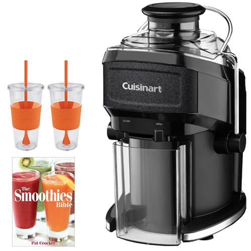 Cuisinart CJE-500 Compact Juice Extractor w/ Tugo Cup Mug & Smoothies Bible