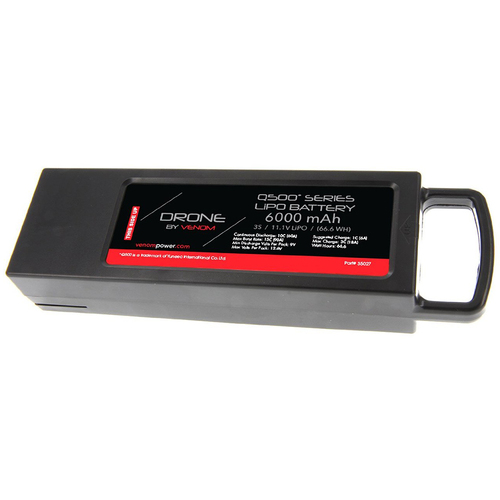 Venom 6000mAh 3-Cell / 3S 11.1V LiPo Battery with Cartridge for Q500 Drone - OPEN BOX