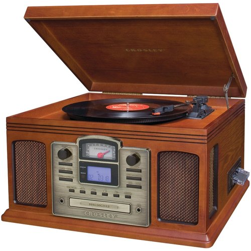 Crosley Director CD Recorder with Cassette And Record Player CR2405C Paprika
