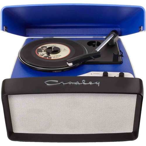 Crosley Collegiate Portable USB Turntable with Built-In Speakers CR6010A-BL (Blue)