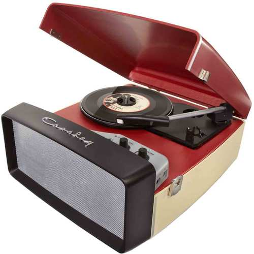 Crosley Collegiate Portable USB Turntable with Built-In Speakers CR6010A-RE (Red)