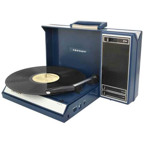 Crosley Spinnerette Portable USB Turntable w/ Audio Editing Software CR6016A-BL (Blue)