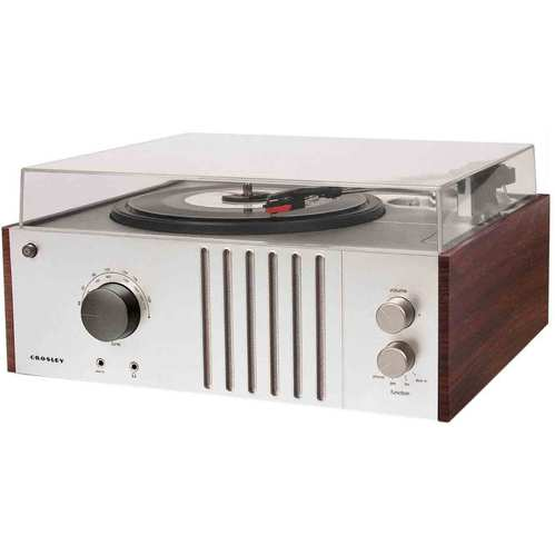 Crosley Player Turntable with AM/FM Radio and Aux-In CR6017A-MA (Mahogany)