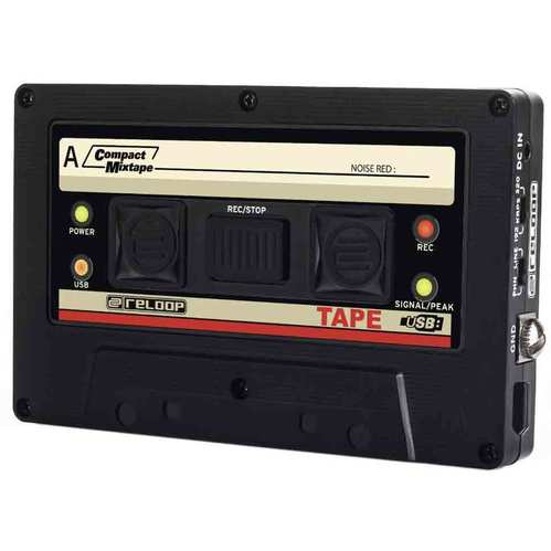 USB Mixtape Recorder with Retro Cassette Look, Black (TAPE)